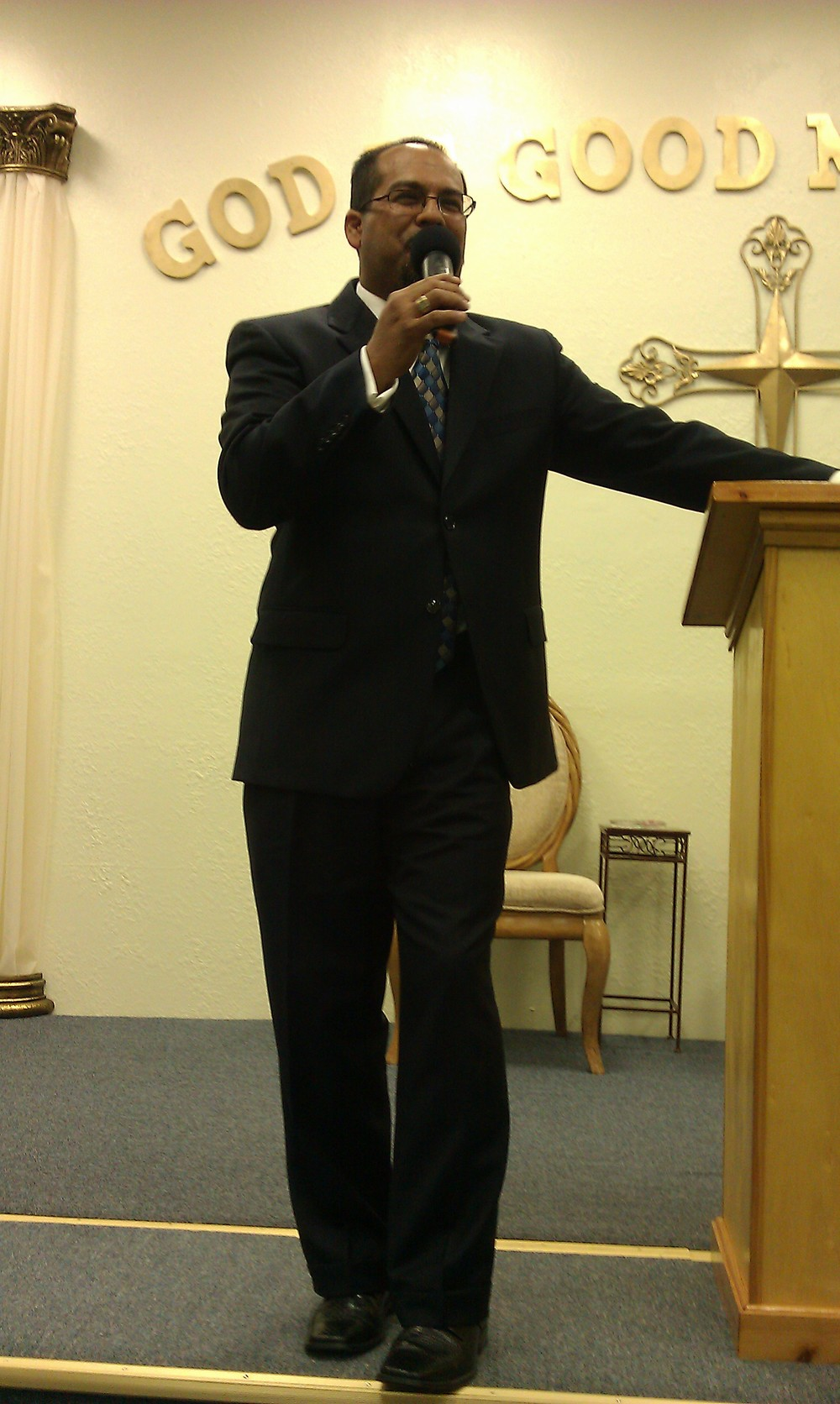 Pastor Frank at God Is Good Ministries.