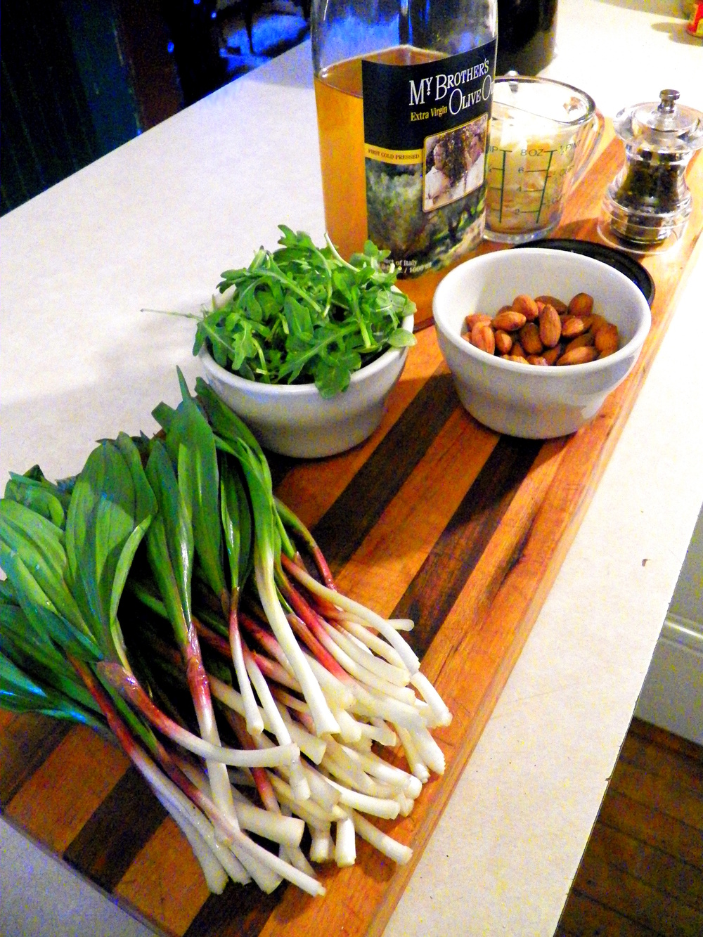 Ramp Pesto Ingredients