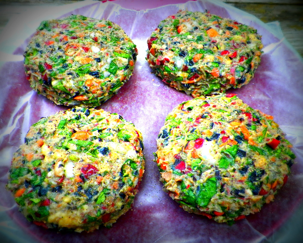 """Real"" Veggie Burgers ready for the grill"