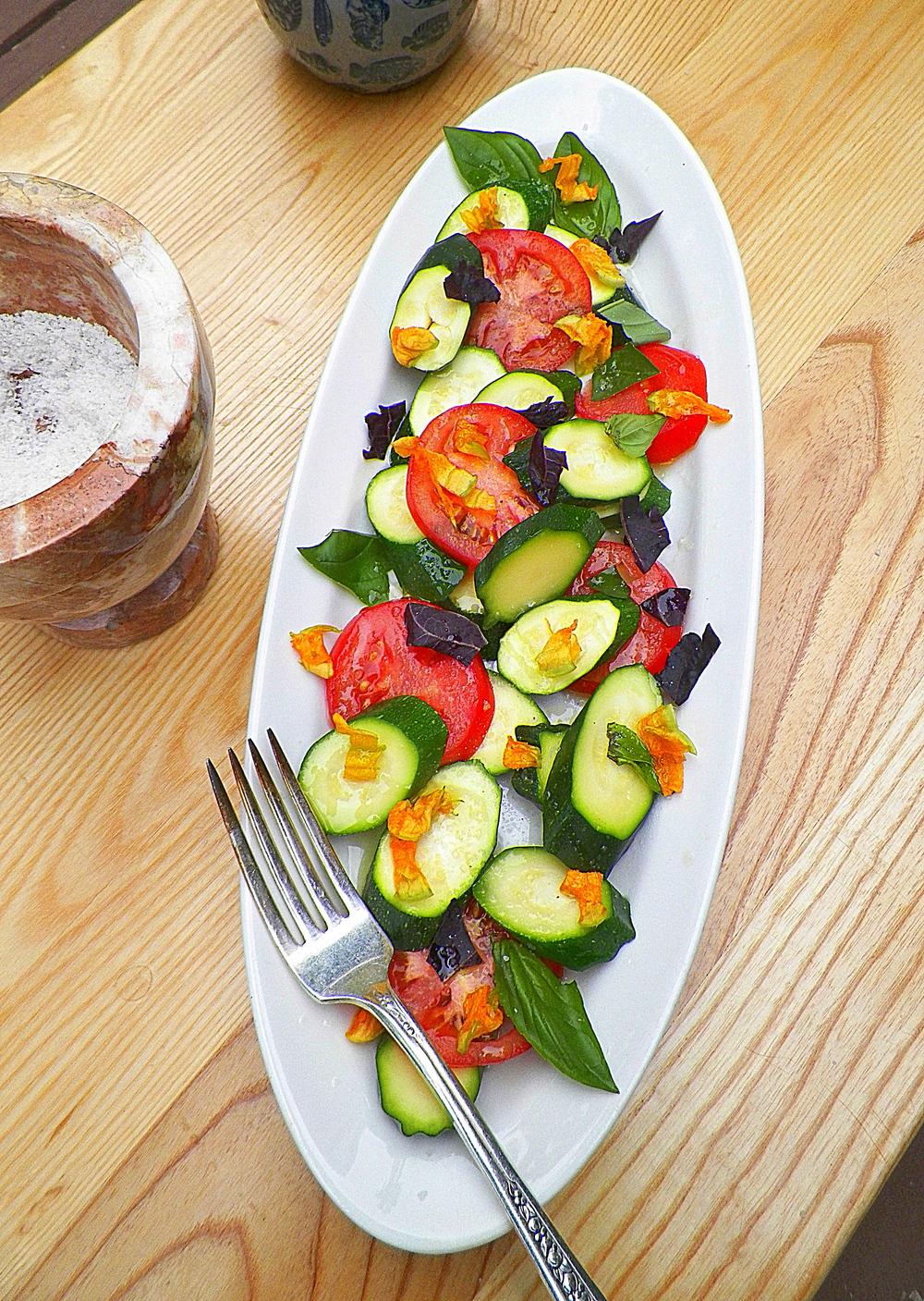 Warm Baby Zucchini Salad