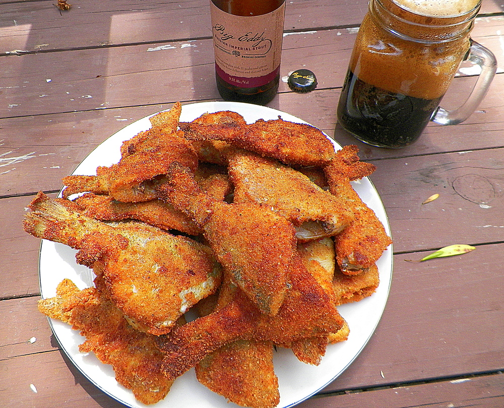 A plate of pan-fried bluegills