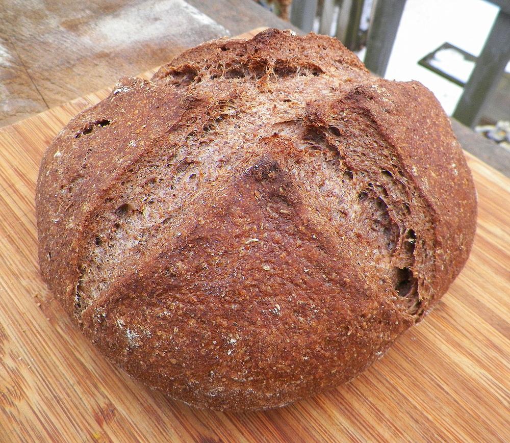 Acorn flour bread.