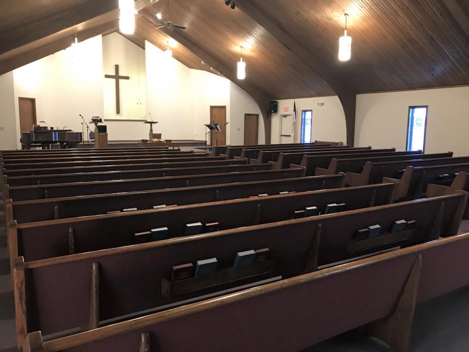 Our empty Sanctuary - awaiting a congregation to fill it with Praise!