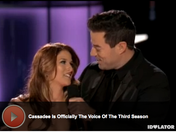 'The Voice:' Cassadee Pope Wins Season 3