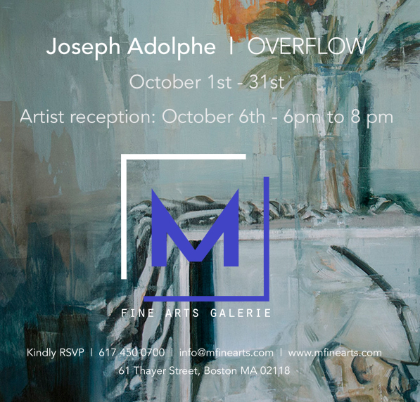 Solo show at M Fine Arts Galerie in Boston opens October 1. Opening October 6, 2017