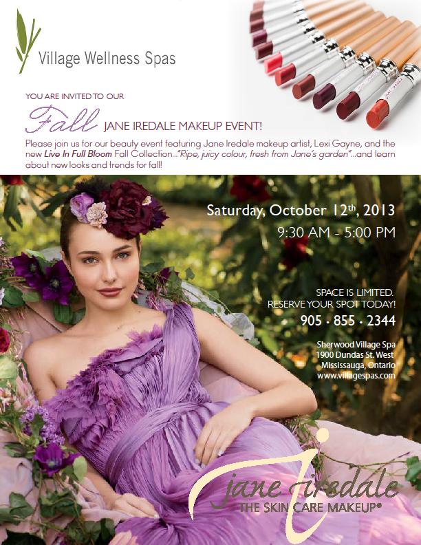 jane iredale mississauga makeup event