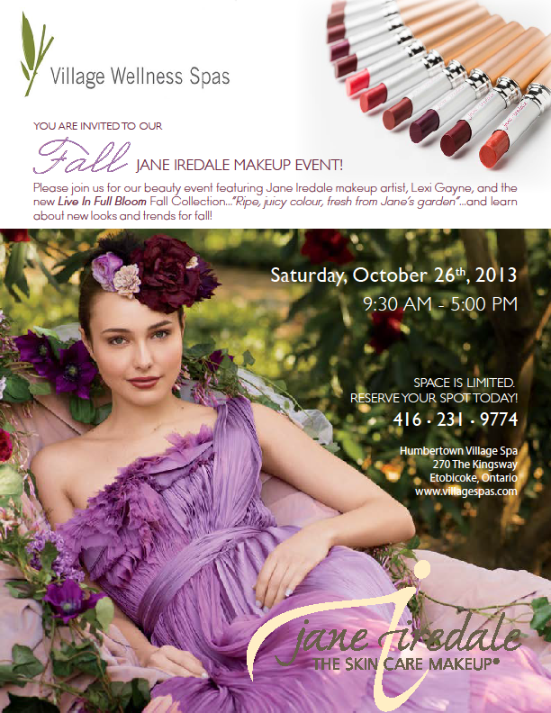 jane iredale etobicoke makeup event