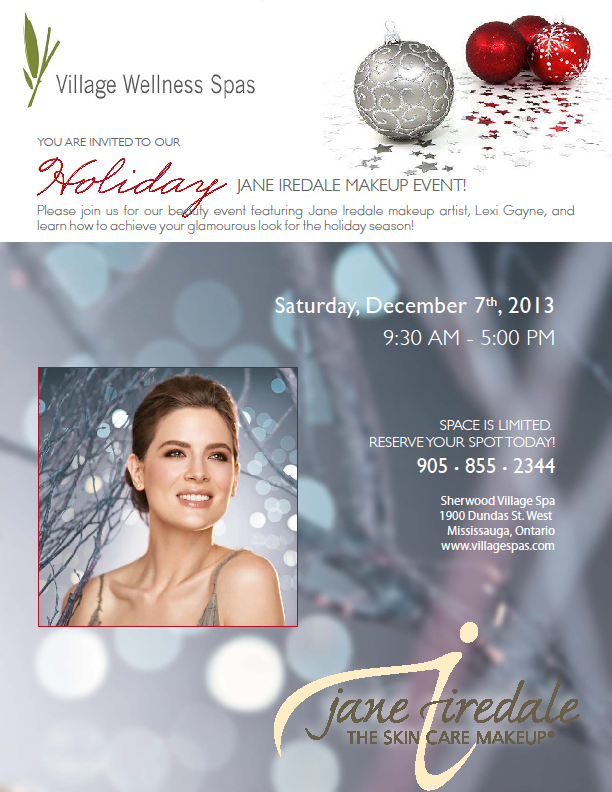 jane iredale mississauga makeup event winter