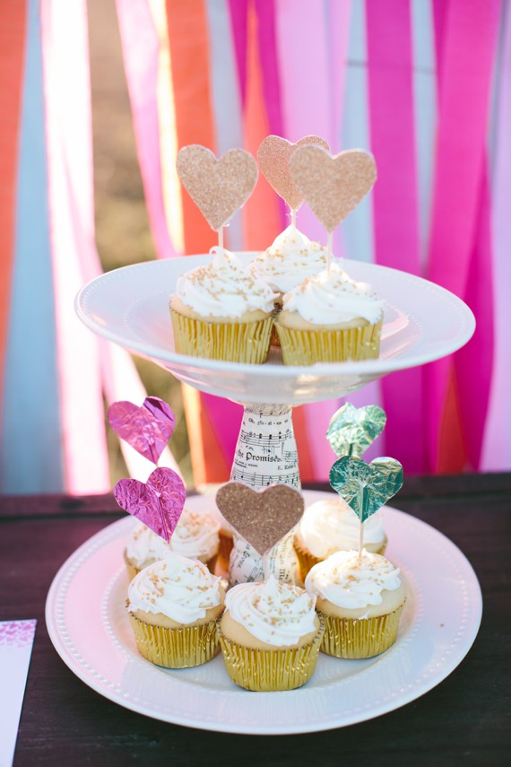 Sparkle Motion Decor, heart cupcake toppers