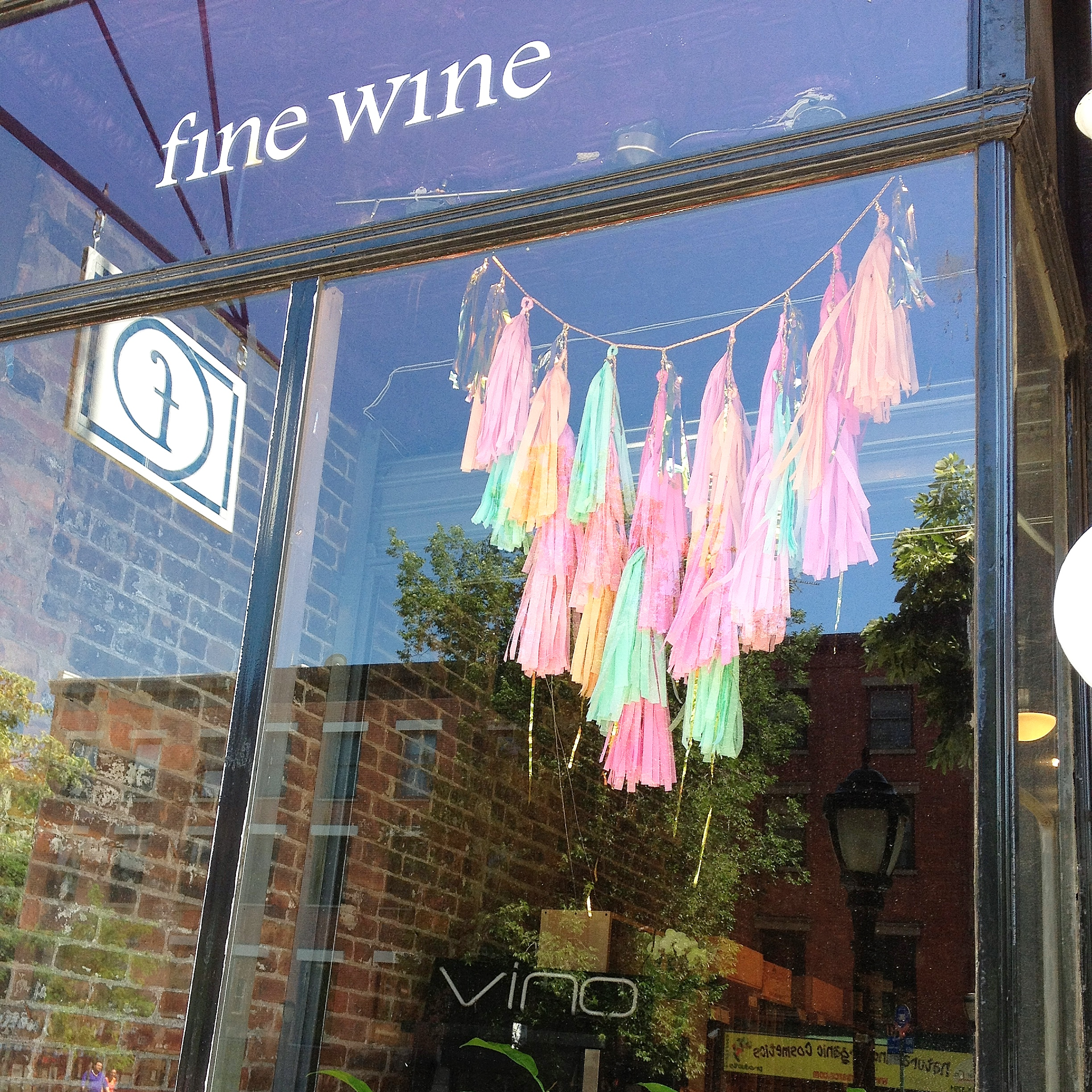 Sparkle Motion Decor - Tissue Tassel Garland window display