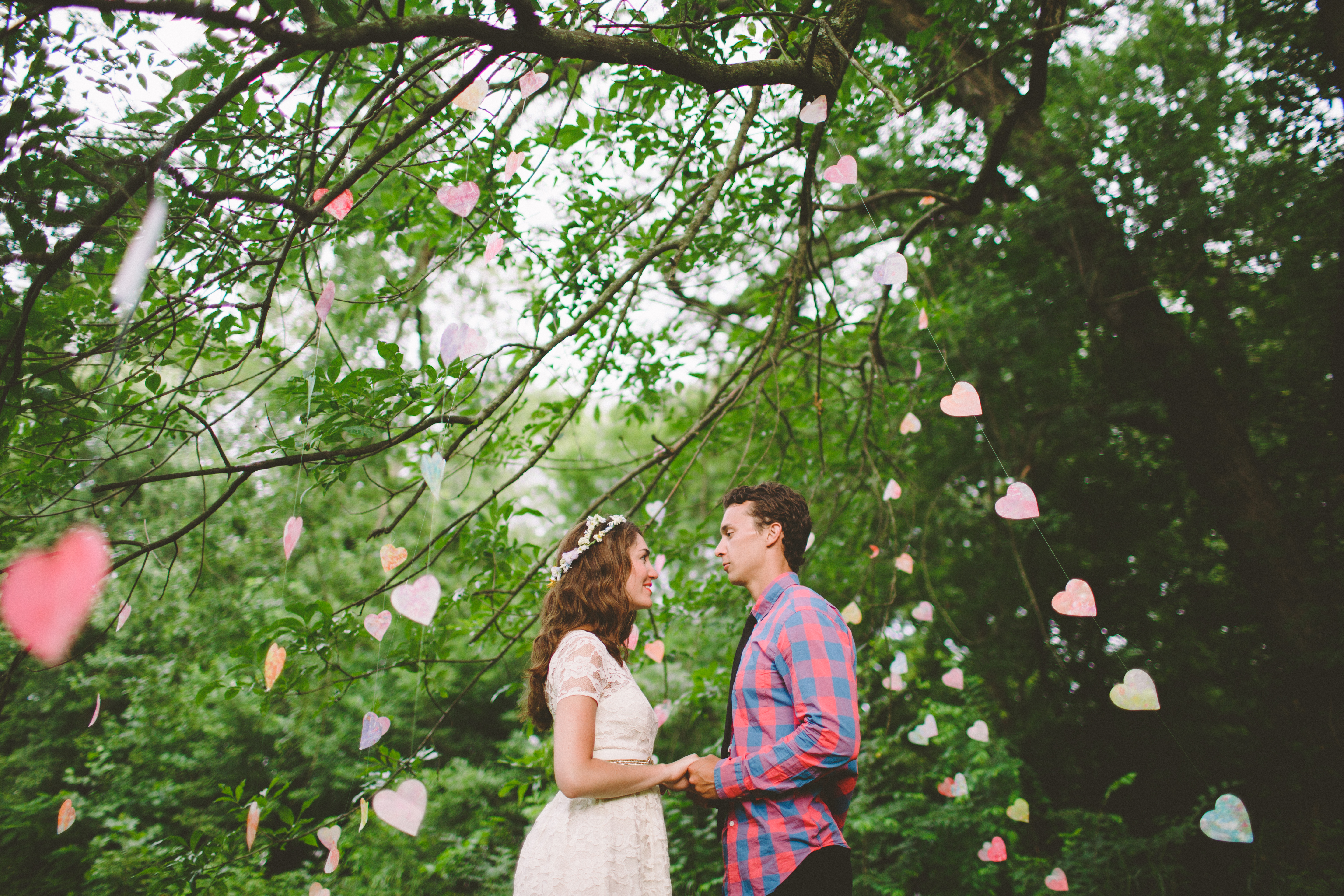 wax paper and crayon heart garlands by sparkle motion decor; photo by with love and embers