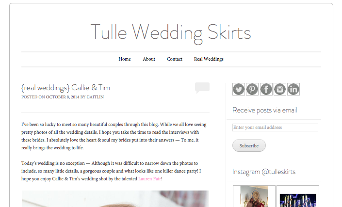TULLE WEDDING SKIRTS
