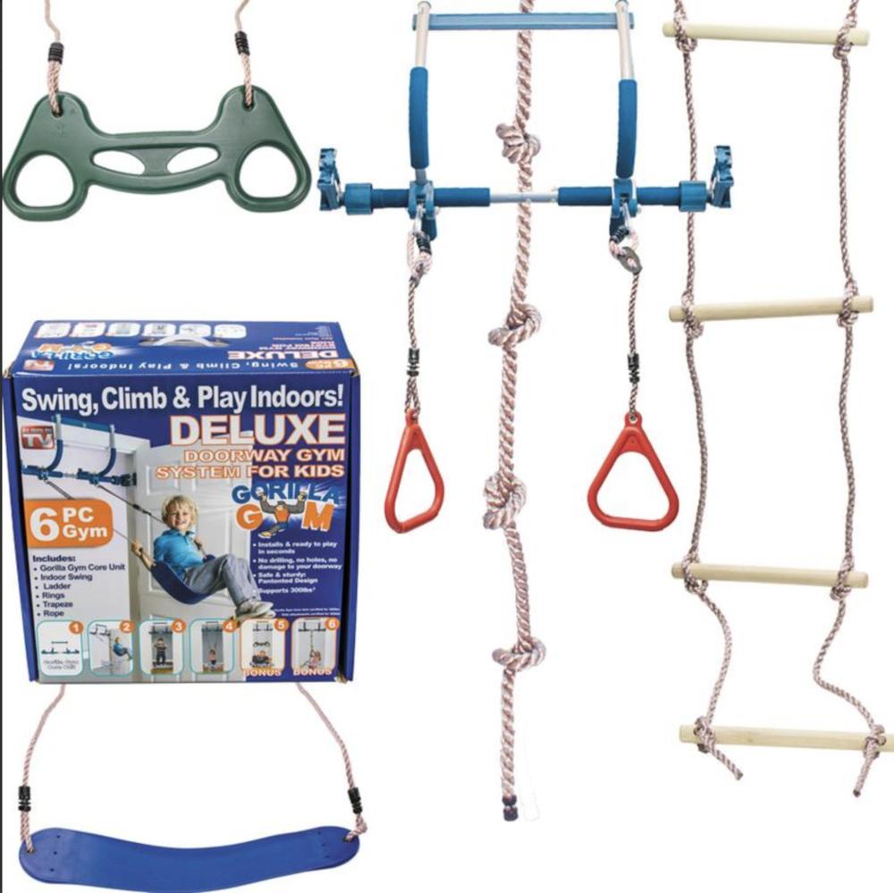 Deluxe 6-Piece Bonobo Gym Indoor Playground
