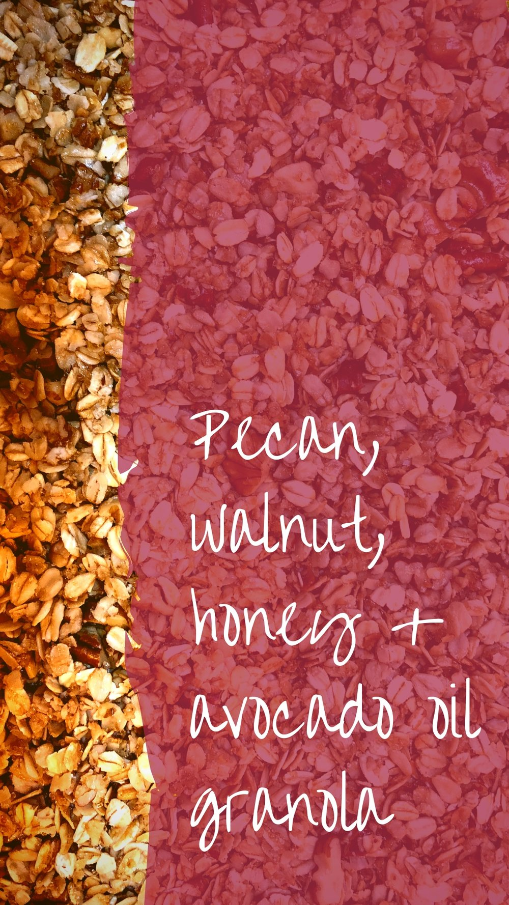 OriginalGranolaRecipe - Pecan, Walnut, Honey and Avocado Granola