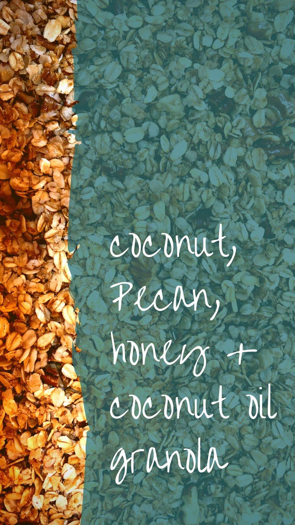 SummerGranolaRecipe - Coconut, Pecan, Honey and Coconut Oil Granola