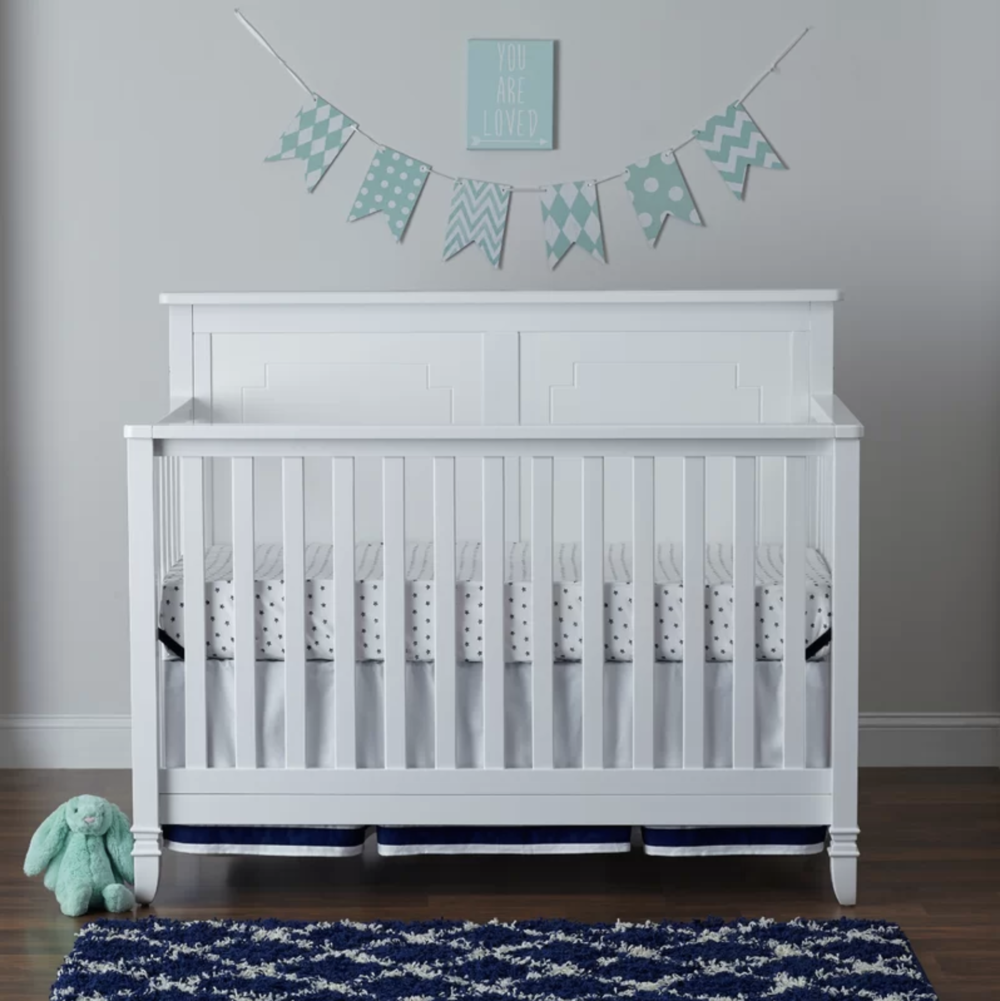 Asher - White - Asher 4-in-1 Convertible Crib