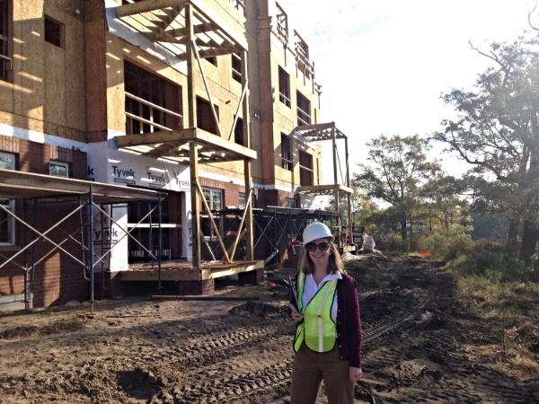 October 30, 2014   Project Architect - Megan Shope - on site for construction!