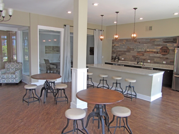September 1, 2016 -  The clubhouse kitchen is ready for entertaining!