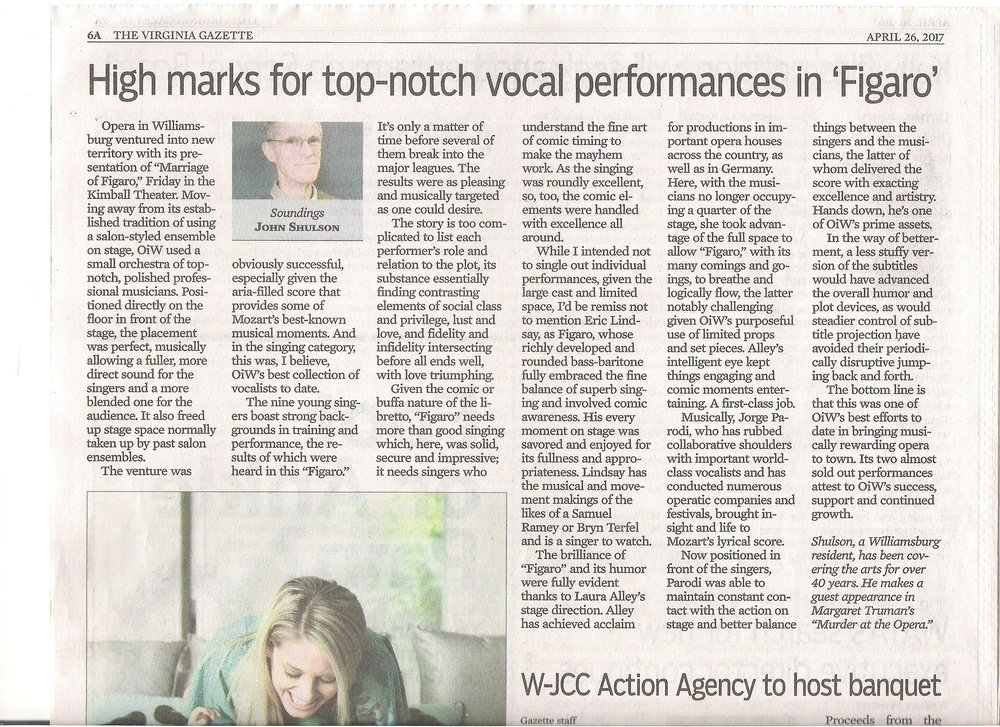 Opera in Williamsburg VA Gazette Shulson review Marriage of Figaro 4-26-17.jpg
