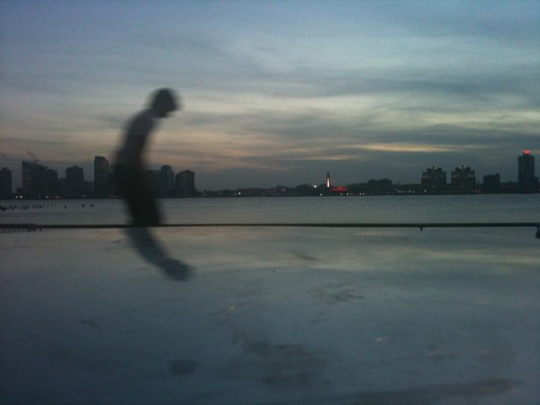 Skateboarders at the Hudson River. Photo © Kristina Feliciano.