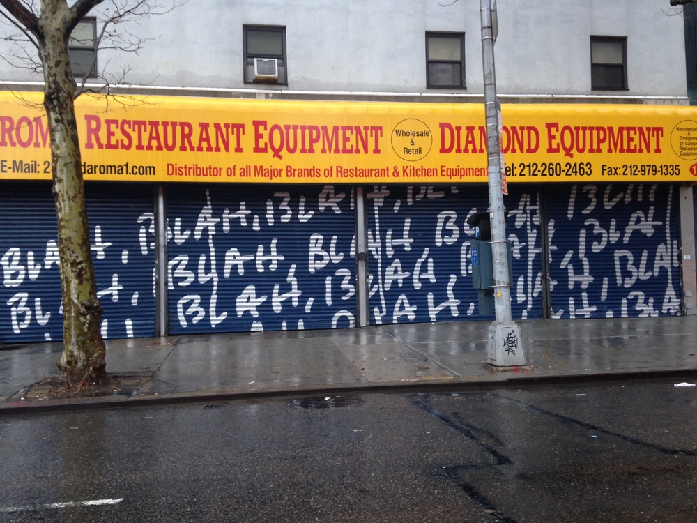 The blahs on the Bowery