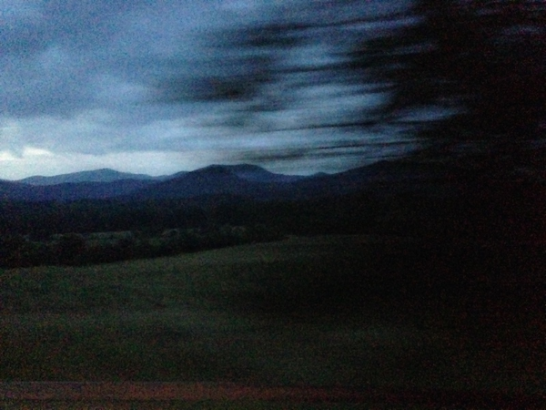 Driving up to Swannanoa, North Carolina, 2014. © Kristina Feliciano.