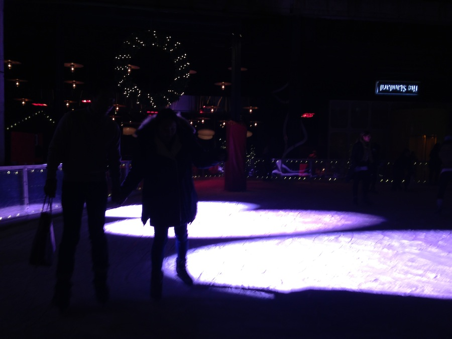 Ice skaters, Meatpacking District, NYC, December 30, 2014