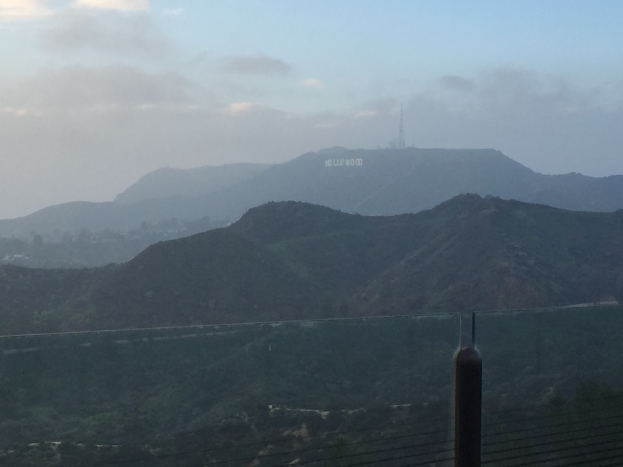 The Hollywood sign from Griffith Park Observatory.