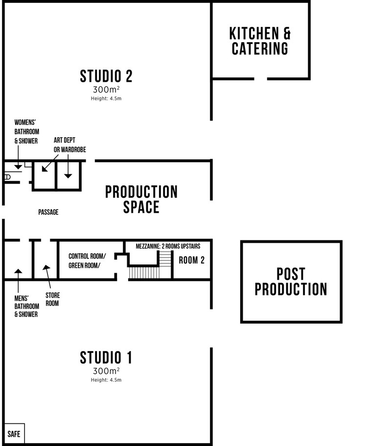 FULL OVERVIEW OF STUDIOs and the kitchen studio