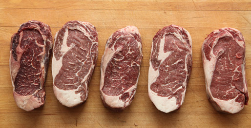 From Left to Right, Dry Aged Longer vs Shorter Amounts Of Time