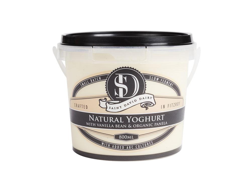 Natural Plain Yoghurt with Vanilla Bean & Organic Panela