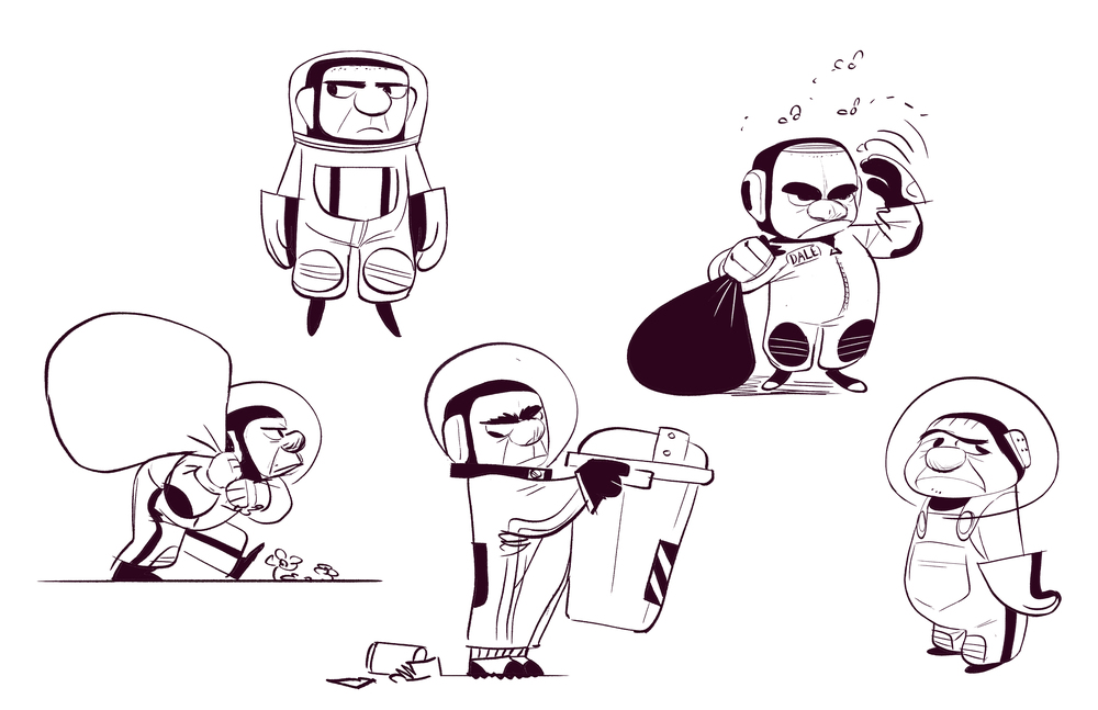 Space-bin Man