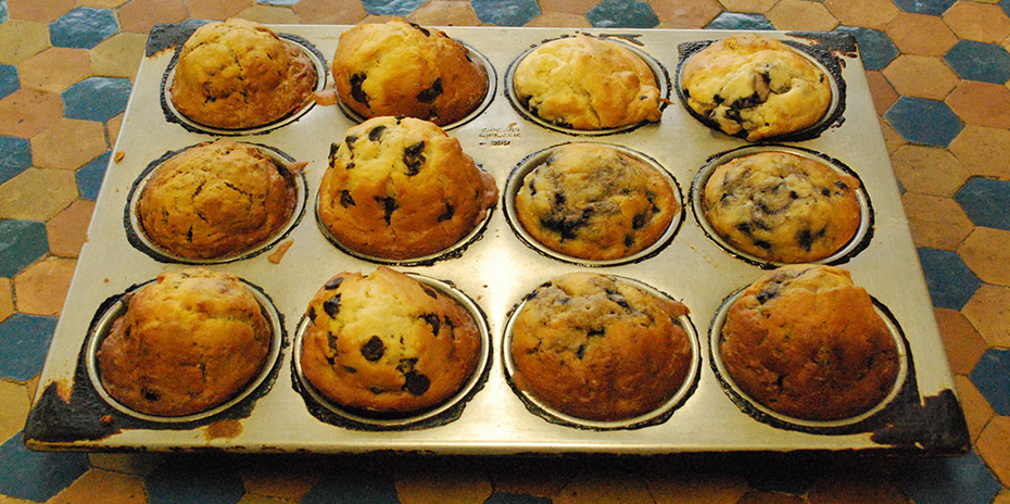 Fresh baked muffins.
