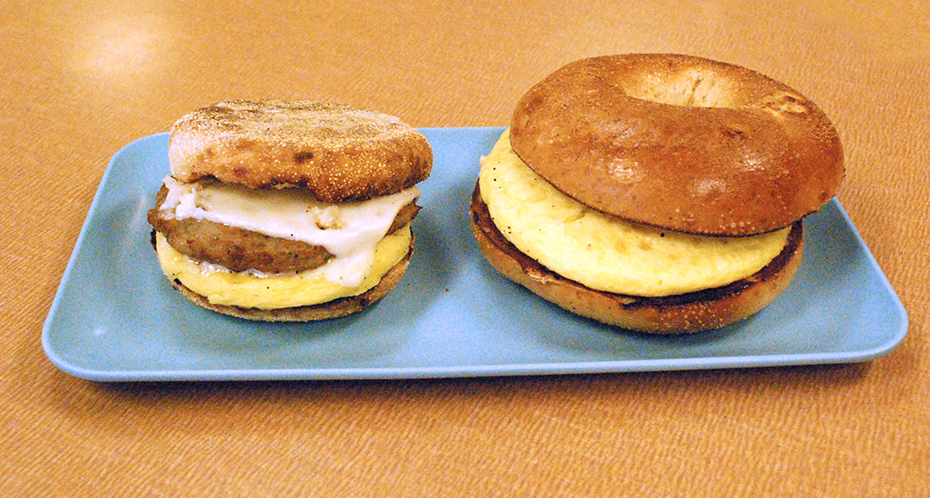Sampling of our breakfast sandwiches.