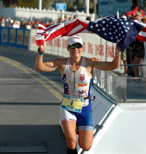 Defending the Ironman Florida title in 2011 . Photo by Richard Freer.