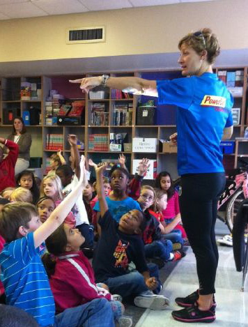Teaching Second Graders about healthy habits. Photo: Clark Underbakke.