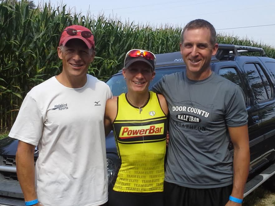 Bill Roach - Bill Roach (pictured far left), accomplished a 30-minute Ironman PR under Jessica's guidance.