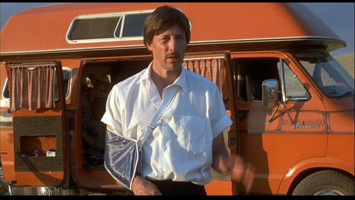Actor John Gries as Uncle Rico in Napoleon Dynamite (2004).