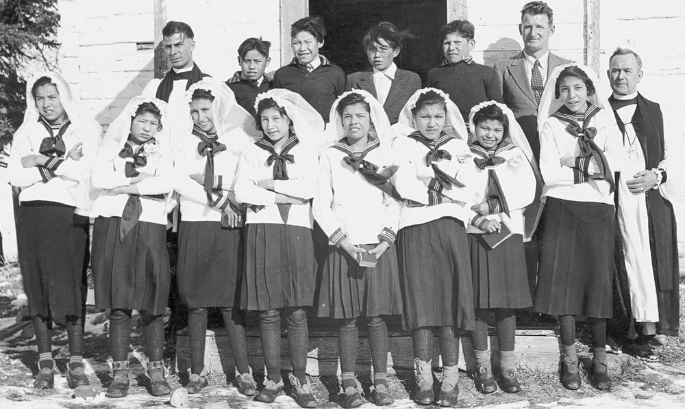 St. John's Indian Residential School in Wabasca, Alberta (1920).