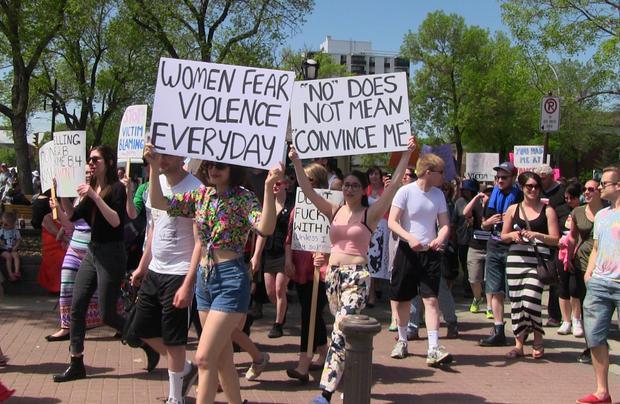 Participants at SlutWalk Edmonton 2014