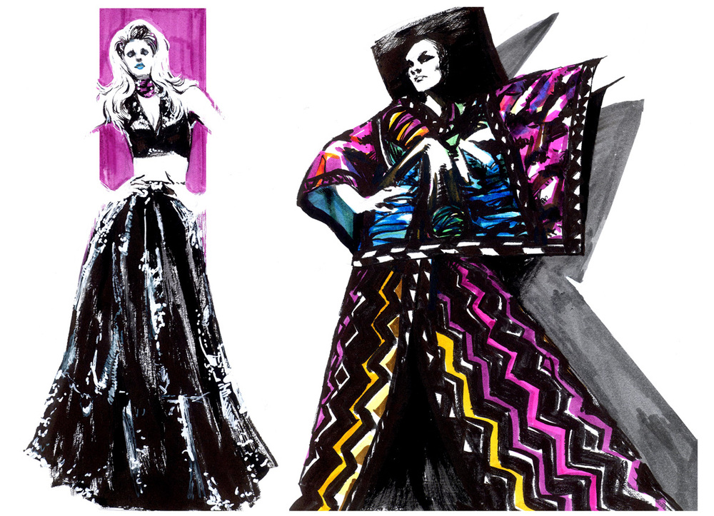 - fashion illustration brush art -
