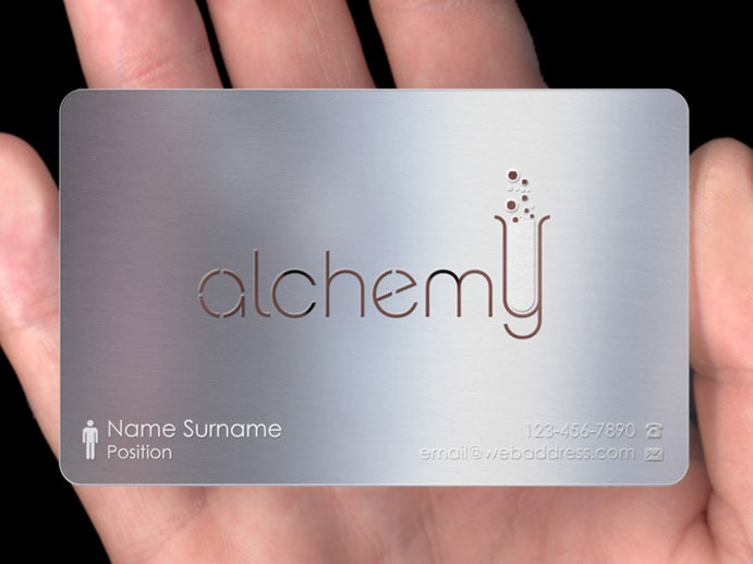 Metal business cards plasmadesign for Blank metal business cards