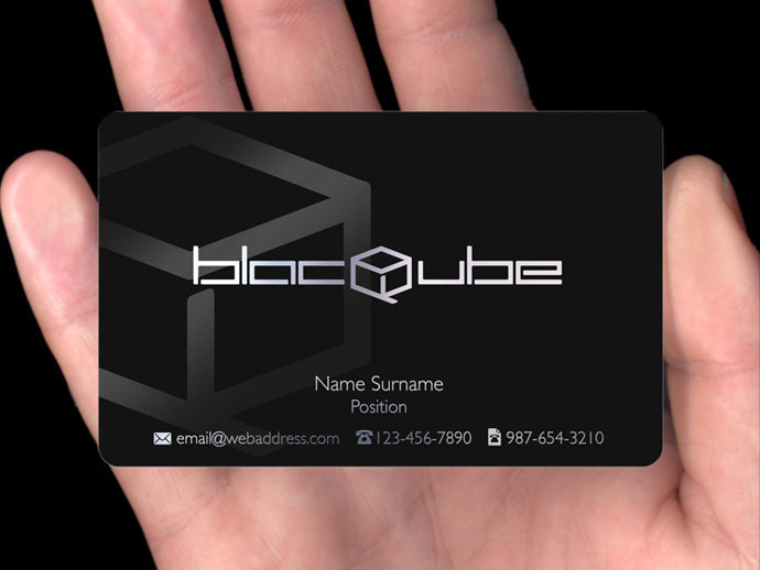 Satin plastic cards plasmadesign blac qube colourmoves