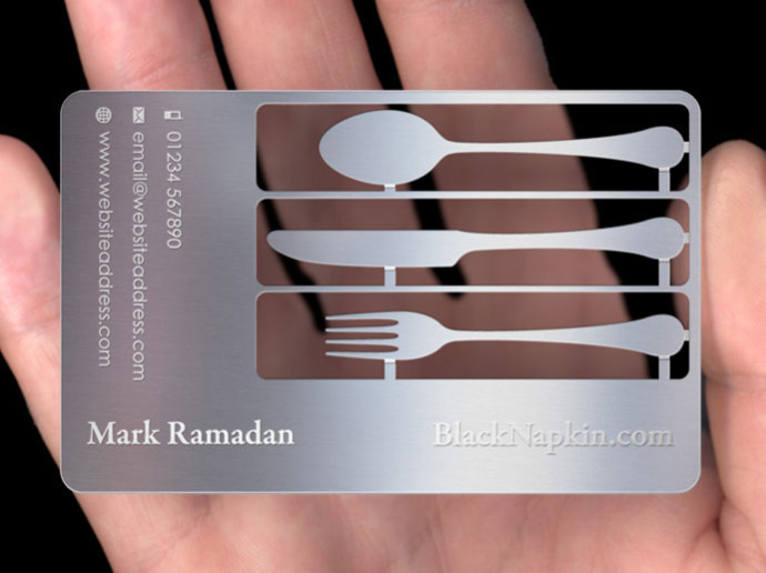 Metal business cards plasmadesign for Plasma design business cards