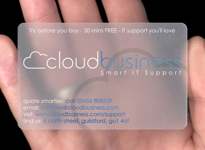Cloud business plasmadesign type translucent plastic business card reheart Choice Image