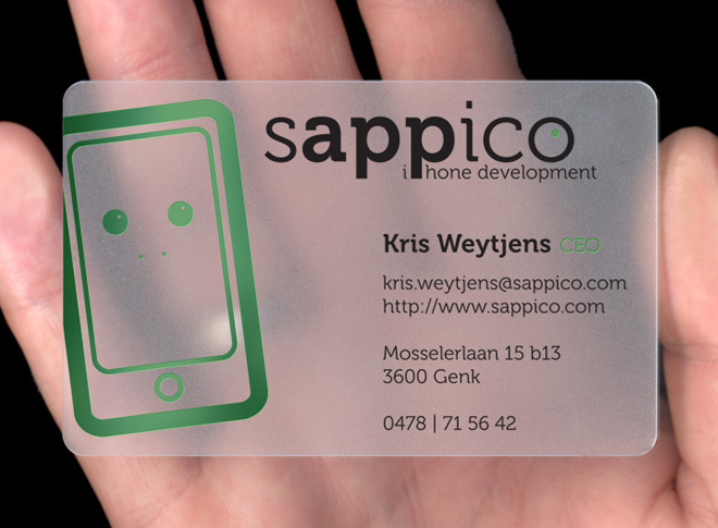 Sappico plasmadesign type translucent plastic business card colourmoves Choice Image