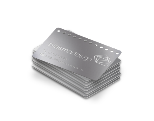 A stack of mini metal cards