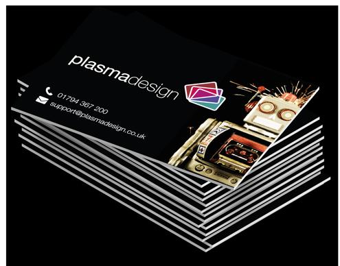 Matt laminated uv spot foiled business cards plasmadesign reheart Choice Image