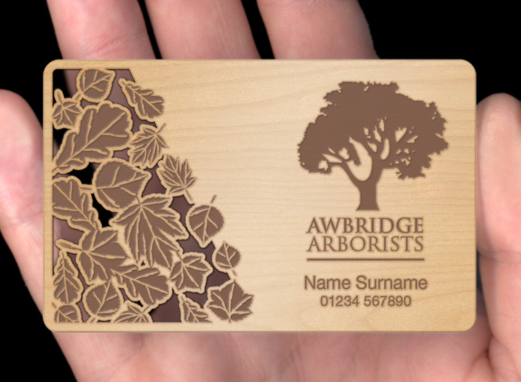 Wood business cards plasmadesign birch02g reheart Gallery