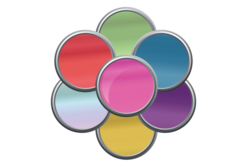 An icon depicting the various coloured cores available